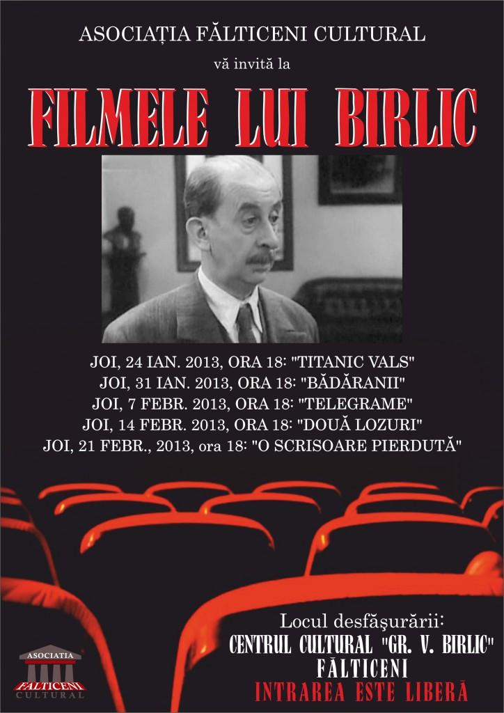afis Filnele lui Birlic