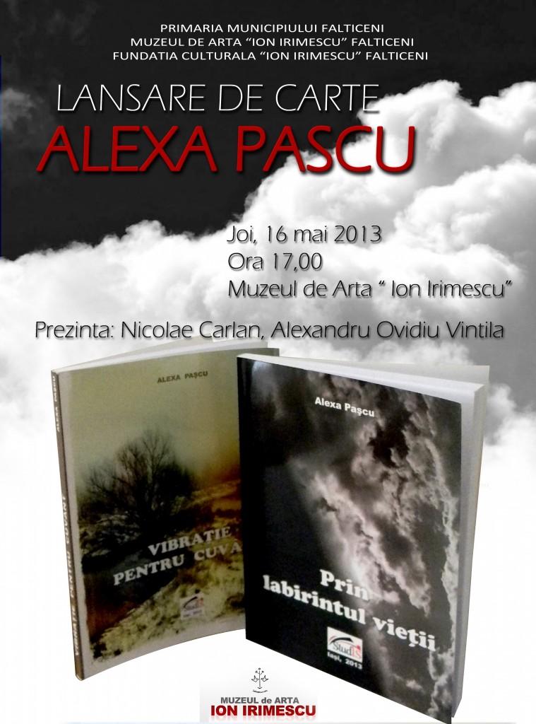 Afis lansare carte-A.Pascu,Falticeni