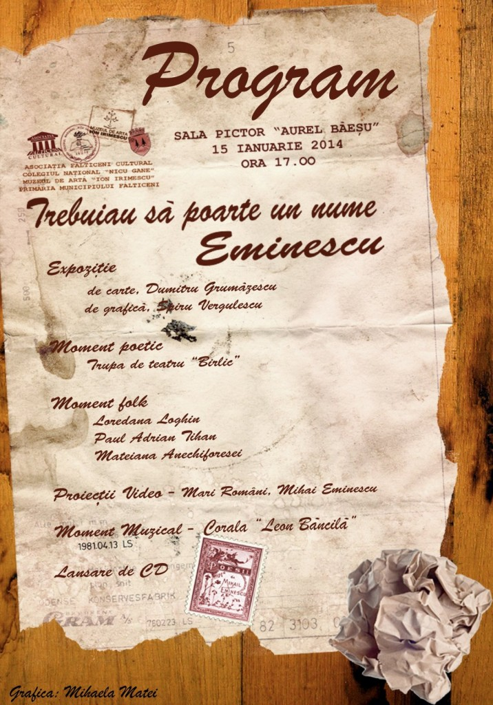 Falticeni-Program eveniment 15.01.2014