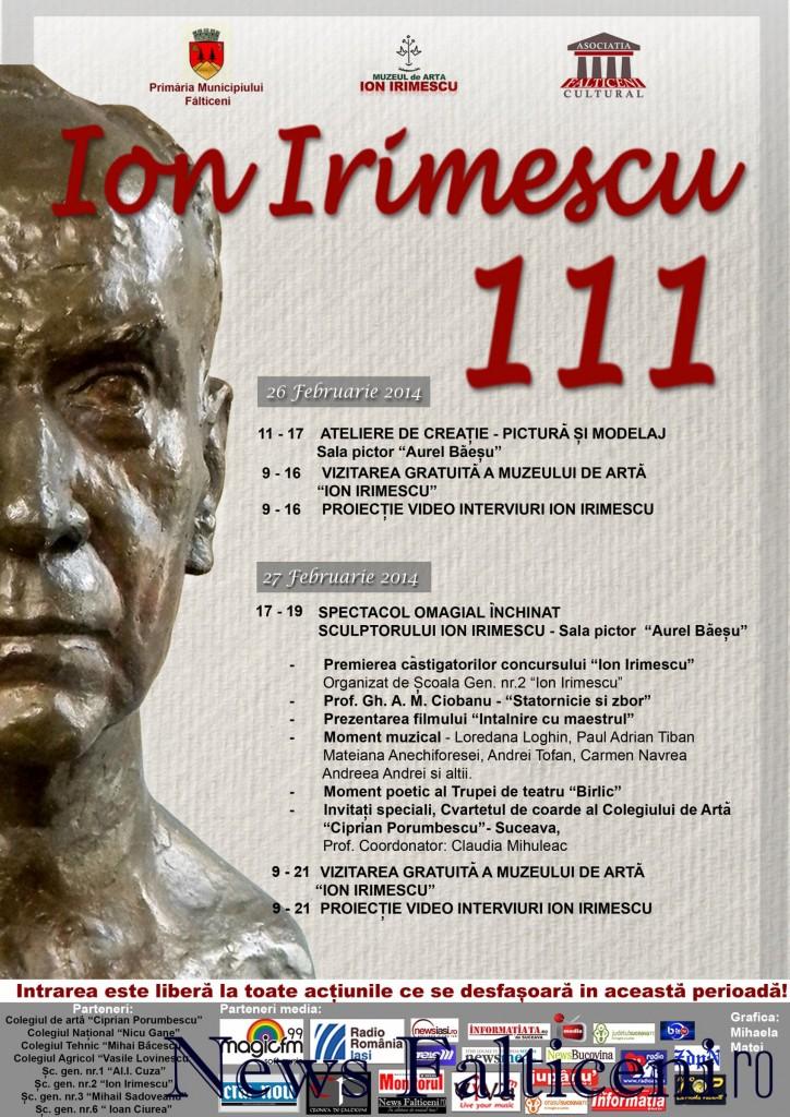 Falticeni-Afis-Ion Irimescu 111-26.27 februarie 2014