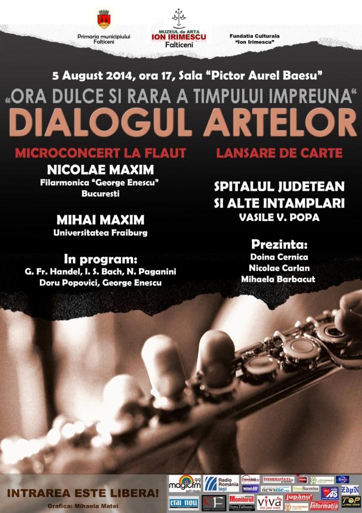 Falticeni-Afis eveniment 5.08.2014-Muzeul de Arta ion Irimescu
