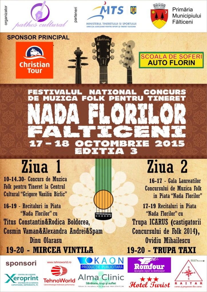 Falticeni-afis final folk 2015 - cu sponsori